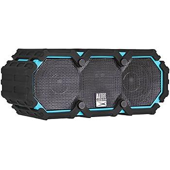 Altec Lansing iMW477 Mini Life Jacket Bluetooth Speaker Waterproof Wireless Bluetooth Speaker, Hands-Free Extended Battery Outdoor Speaker, Ultra-Portable 10ft Range, Blue/Black