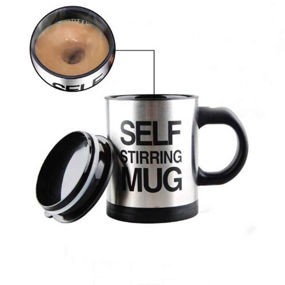 Self Stirring Coffee Mug - Self Stirring, HouseHep Electric Stainless Steel Automatic Self Mixing Cup and Mug- Cute & Funny, Best for Morning, Travelling, Home, Office, Men and Women