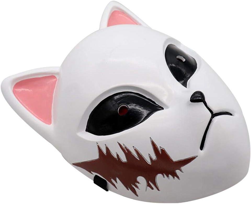 GMWD Maschera di Uccisore di Demoni Anime Giapponesi Maschere Cosplay per Feste Oggetti di Scena per Costumi da Festa di Halloween
