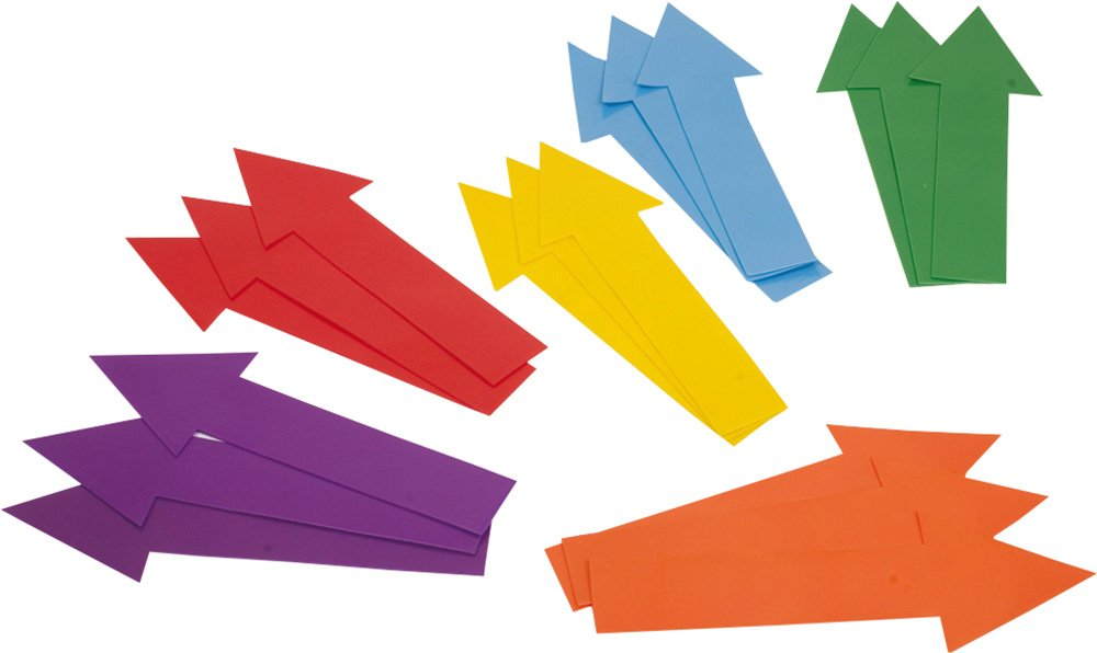 CreativeMinds UK Childrens Activities Fun Games Floor Markers Directional Arrows Set Of 18 New