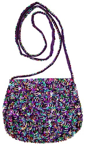 Price comparison product image Bag Sequin Pretty Multicolored Purple