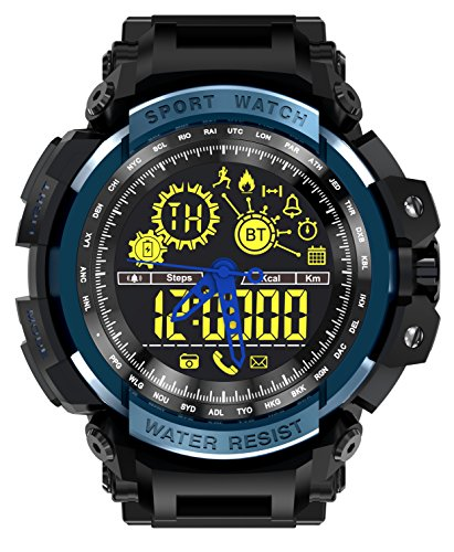 LEMFO LF21 NO1 Men's military ana-digi wrist watch, heavy duty design, stopwatch, EL backlight 5ATM waterproof + energy, distance track for physical fitness, tactical training, 1.5 miles, 5K, 10K run Needle Hole Plate