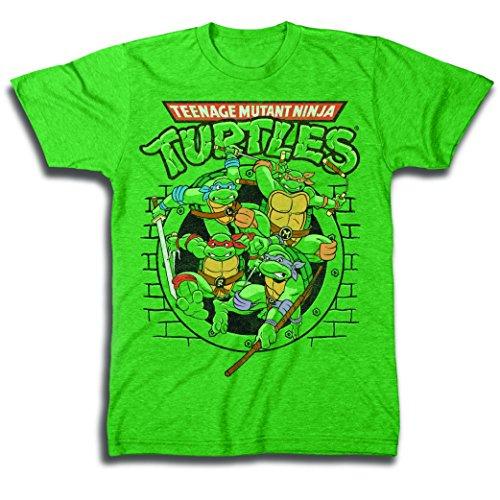 Men's Tmnt Group T-Shirt, Kelly Heather, -