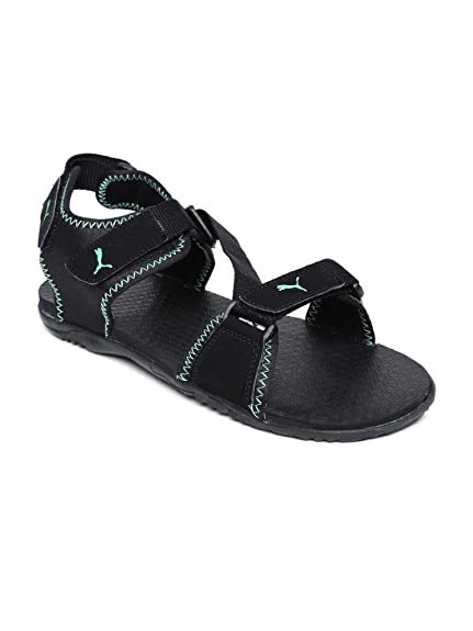 8bd2652a68231 Puma Unisex Black and Fluro Teal Synthetic Athletic   Outdoor Sandals  (30546202) - 10