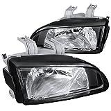 1995 honda civic ex headlights - Spec-D Tuning LH-CV92JM-APC Honda Civic Ex Dx Lx Black Housing Headlights