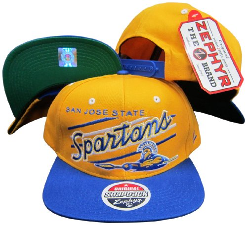 San Jose State Spartans Adjustable Plastic Snapback Hat / - Jose State Hat San