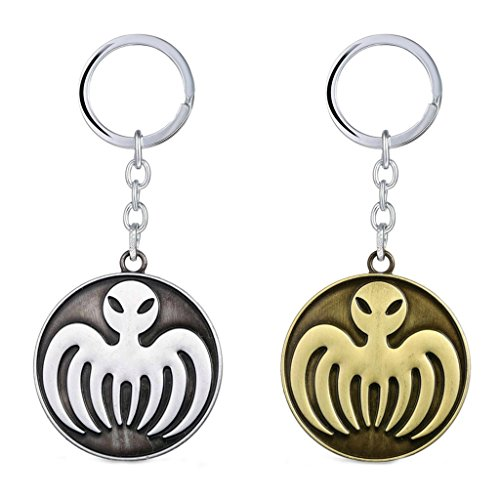James Bond Costume Party (J&C James Bond Spectre Logo (2 Pack) Keychain with Gift Box)