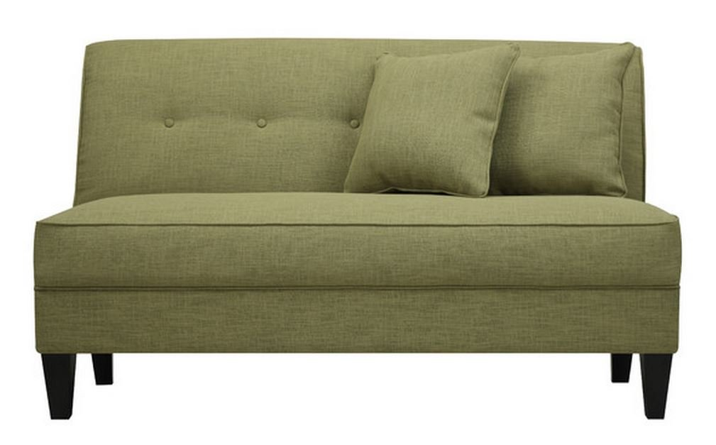 Contemporary Sofa Loveseat - This Upholstered Couch Is Made of Wood and Linen Material - Perfect Seat for Your Bedroom, Living Room - Free Toss Pillows - 1 Year Warranty! (Apple Linen)