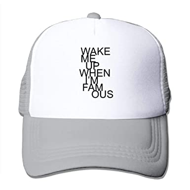 Amazon.com  Wake Me up When I m Famous Big Foam Snapback Hats Mesh Back  Adjustable Cap  Clothing 2f5c3cd0a89