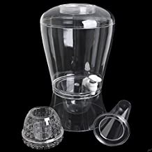 Brilliant - Patio Acrylic Beverage Dispenser with Fruit Infuser, Ice Rod and Ice Chamber Base, 2 Gallon