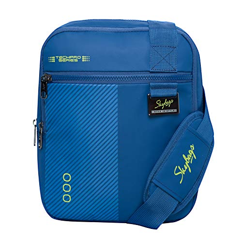 Skybags Techno Blue Vertical Messenger Bag