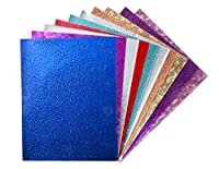 Hygloss Products Embossed Metallic Foil Paper, 8.5 x 11-Inches, Assorted Colors and Designs, 100 Sheets