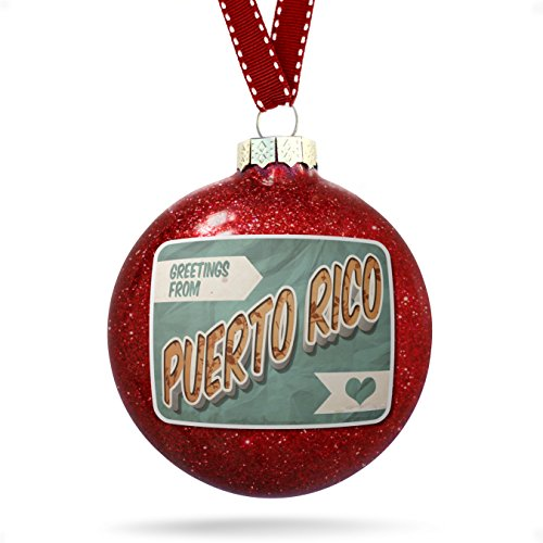 Best deals on greetings from puerto rico products neonblond christmas decoration greetings from puerto rico vintage postcard ornament m4hsunfo