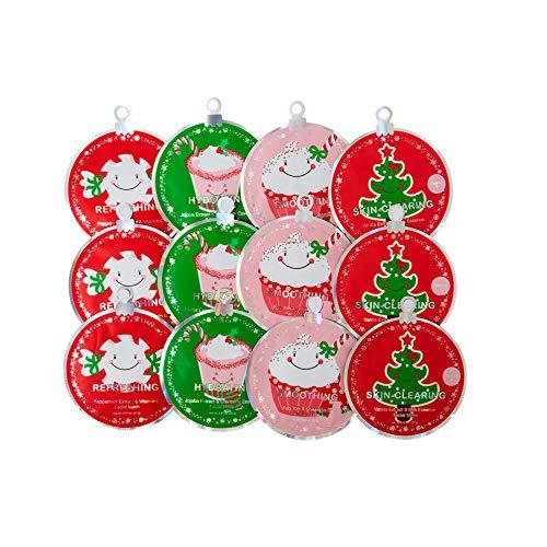 Spa Life Christmas Stocking Stuffer Hydrating, Smoothing, Refreshing, Skin-Clearing Facial Masks 12 pack