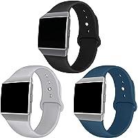 Kmasic Fitbit Ionic armbanden, zachte siliconen sportriem, accessoires, ademende reservearmbanden voor Fit Bit Ionic…