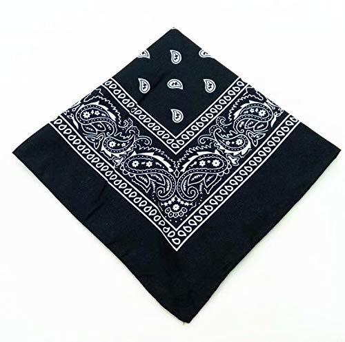 Waymeduo bandanas paisley damen und herren rot wei? schwarz 55x55cm