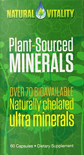 Natural Vitality Plant Sourced Capsules (60 Count) - Minerals Diet Supplement, Gluten Free, Vegan Formula. Plant Derived Minerals
