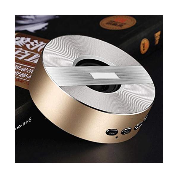 Enceinte Bluetooth sans Fil Portable Mini A5 Full HD Bluetooth sans Fil pour Lecteur MP3, téléphone Portable, Tablette, Bouton Tactile Free Size Rose Gold 7
