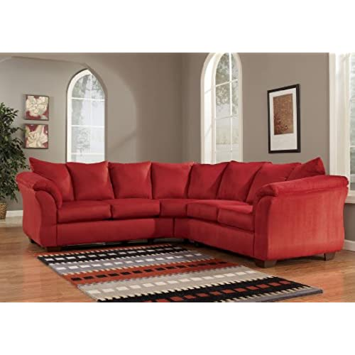 Bon Red Upholstery Fabric Sectional By Ashley Furniture