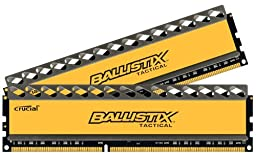 Ballistix Tactical 16GB Kit 8GBx2 DDR3 1600 MT/s PC3-12800 CL8 at 1.5V UDIMM 240-Pin Memory BLT2KIT8G3D1608DT1TX0