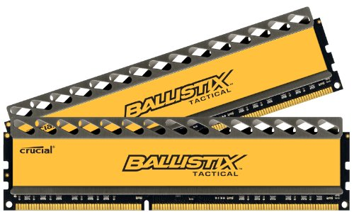 - Crucial Ballistix Tactical 240-Pin DDR3 SDRAM 8 Dual Channel Kit 1333 (PC3 10600) BLT2CP4G3D1337DT1TX0