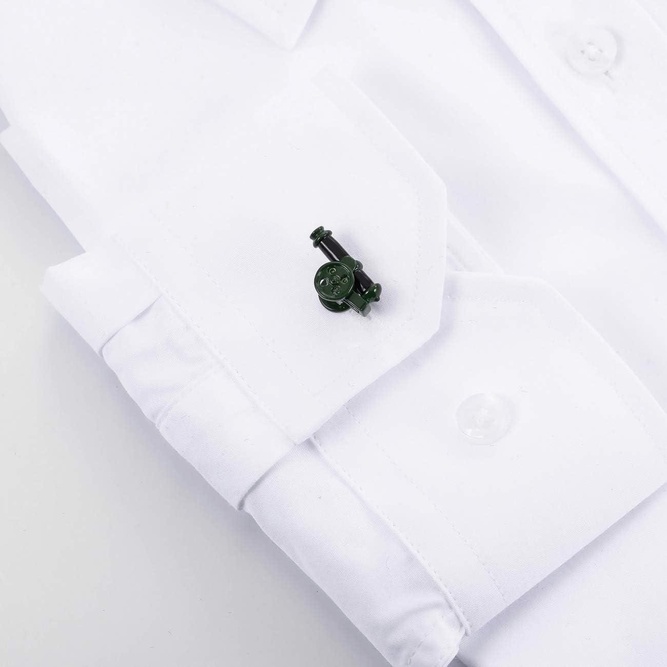 MOWOM 2PCS Rhodium Plated Cufflinks Shirt Wedding Business