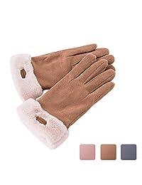 Women Winter Gloves Caseeto Warm Fashion Snow Ski Gloves Driving Gloves