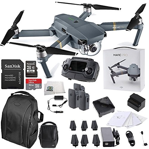 DJI Mavic Pro FLY MORE COMBO Collapsible Quadcopter Drone Starters Backpack Bundle