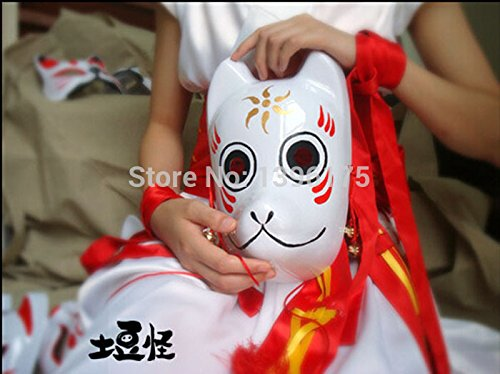 2015 - Hand- painted Fox Mask Endulge Japanese Cartoon PVC Mask Full Face Halloween Masquerade Party Masks