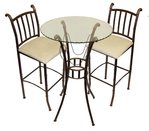 Italian Three Piece Bistro Bar Set (Italian Dining Table Sets)