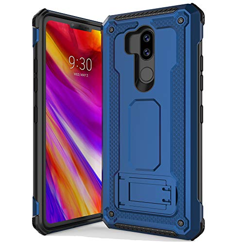 Anccer Armor Series for LG G7 ThinQ Case with Kickstand Anti Shock Dual Layer Anti Fingerprint Protective Cover for LG G7 ThinQ (Blue)