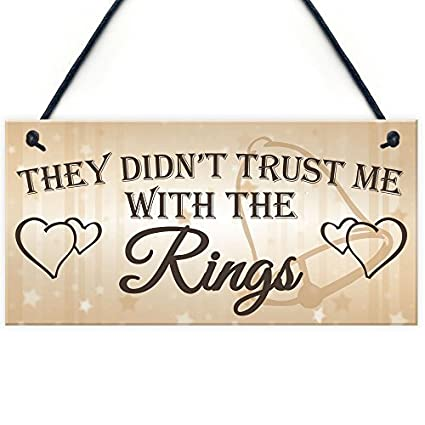 Amazon Com Dominicavwesk Shabby Chic Wedding Sign Trust Me Rings