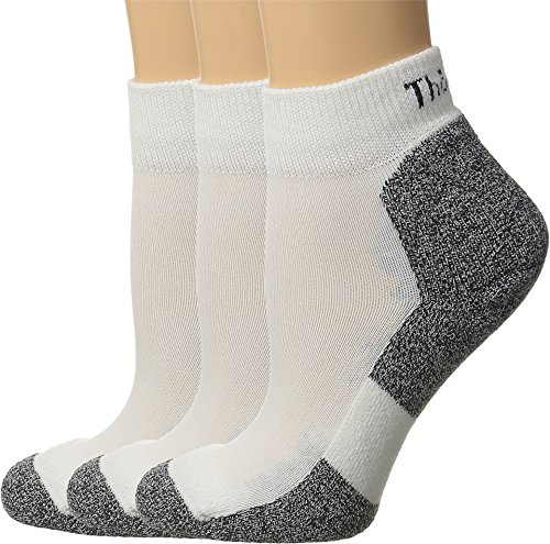 Thorlo Lite Mini - Thorlos Women's Lite Running Mini Crew 3-Pair Pack White/Black Medium