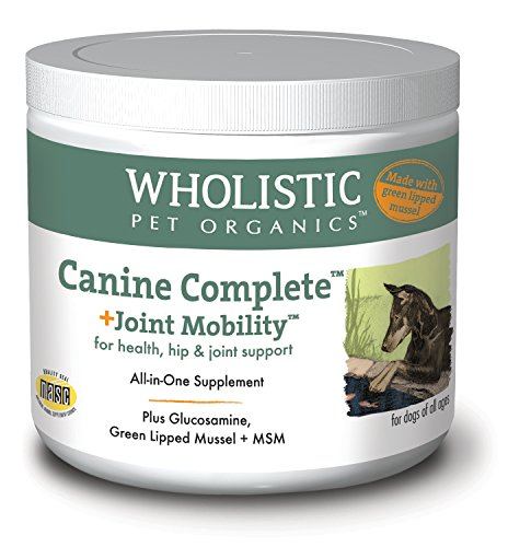 Wholistic Pet Organics Canine Complete Plus Joint Mobility with Green Lipped Mussel Supplement, 1 lb by Wholistic Pet Organics