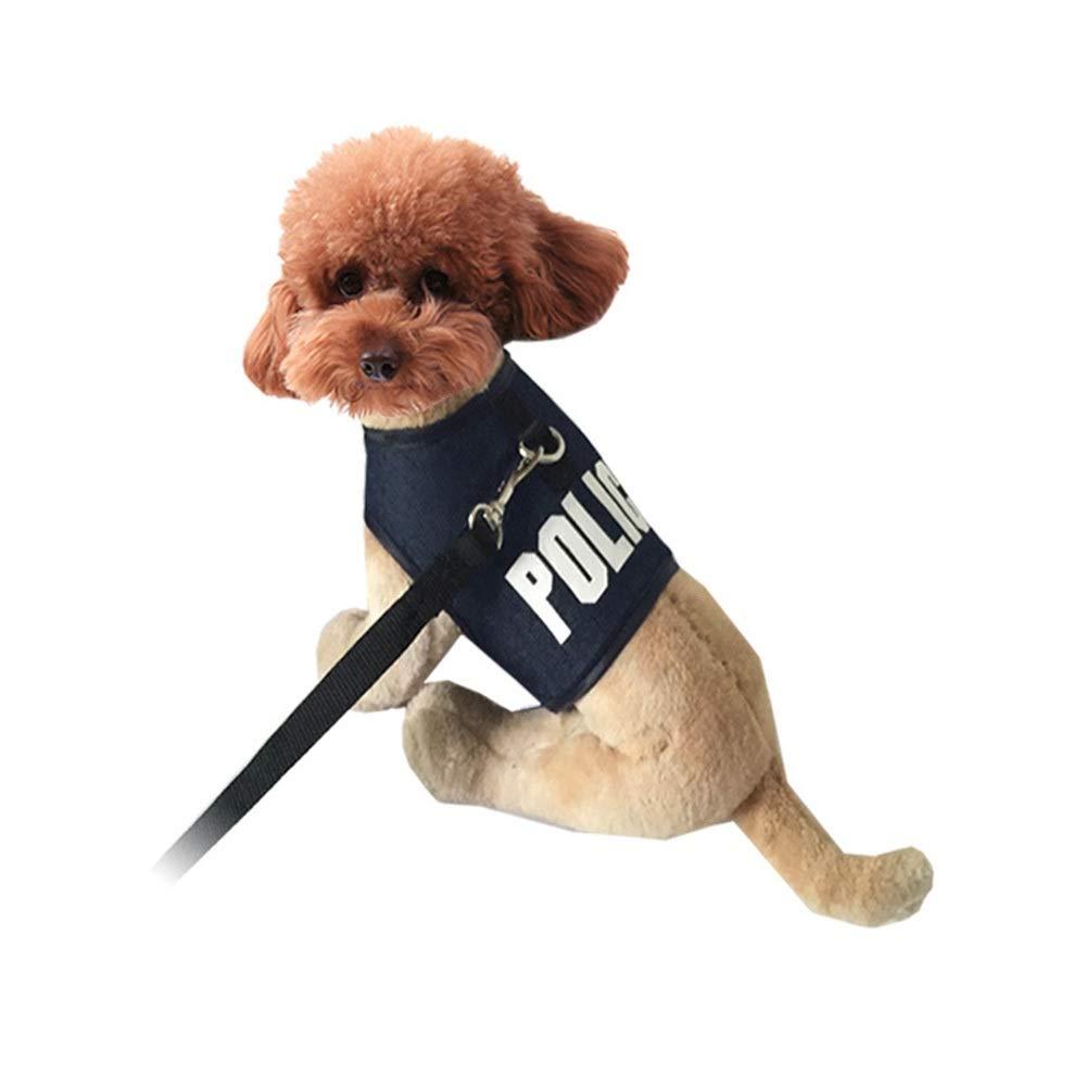 Black M Black M MISSKERVINFENDRIYUN Pet Supplies Dog Chest and Back Traction Belt (color   Black, Size   M)