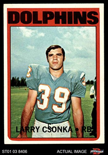 - 1972 Topps # 140 Larry Csonka Miami Dolphins (Football Card) Dean's Cards 6 - EX/MT Dolphins