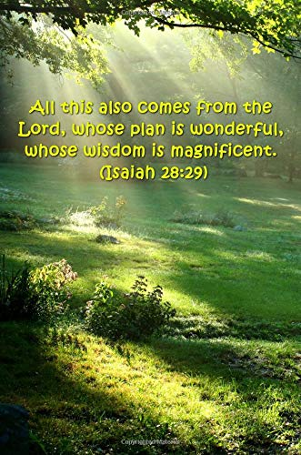 2019 Weekly Planner Bible Verse Lord Wonderful Plan Isaiah 28 29 134 Pages: (notebook, Diary, Blank Book)