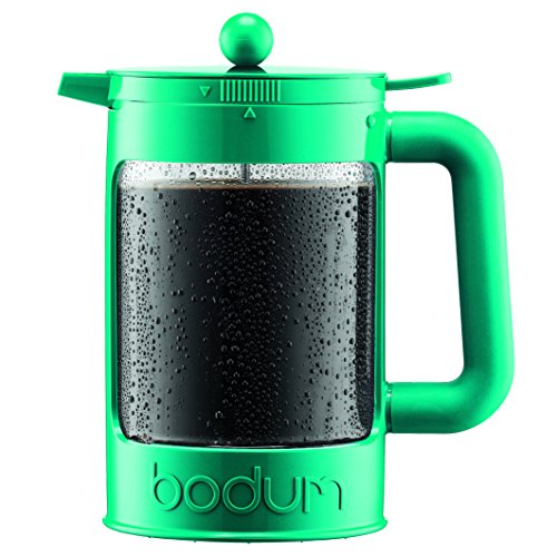 Bodum K11683-159 Bean Set Ice Coffee Maker, 12 Cup/51 oz, Turquoise