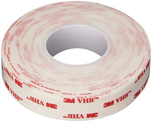 (3M VHB 4950 Heavy Duty Mounting Tape - 0.75 in. x 15 ft. Permanent Bonding Tape Roll with Acrylic Foam Core. Tapes and Adhesives)