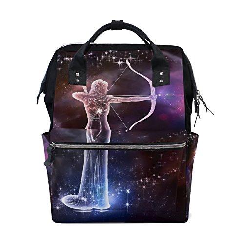 College Bookbag Sagittarius Constellation School Travel Backpack Laptop Notebook Bag for Women & Men