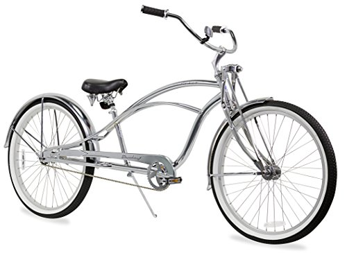 Firmstrong Urban Man Deluxe Single Speed Stretch Beach Cruiser Bicycle, 26-Inch, Chrome