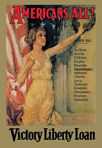 "Buyenlarge Americans All Victory Liberty Loan by Howard Chandler Christy Wall Decal, 36"" H x 24"" W from Buyenlarge"