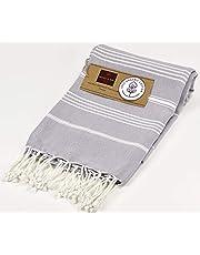 Organic Cotton Bath Beach Spa Sauna Hammam Yoga Gym Hamam Towel Peshtemal Pestemal Blanket (Dapple Grey)