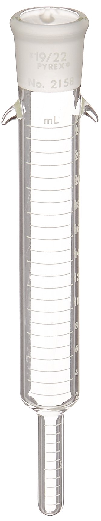 Corning Pyrex Borosilicate Glass Kuderna-Danish Concentrator Replacement Tube Only, 25ml Capacity (Case of 6)