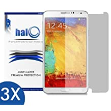 Halo Screen Protector Film Clear Matte (Anti-Glare) for Samsung Galaxy Note 3 III (3-Pack) - Lifetime Replacement Warranty
