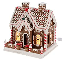 Lighted Gingerbread House with Candy and Decorations, 11 Inch (Operated with Plug)