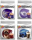Tassimo Hot Chocolate Mega Pack - Cadbury, Oreo, Milka, Suchard Pods Discs - 40 Servings Total