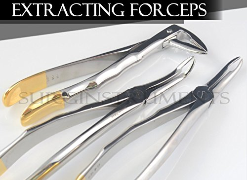 Set of 3 Root Tip Extracting Forceps Dental Instruments
