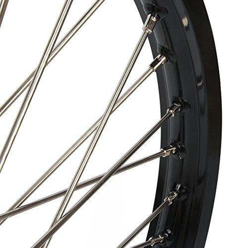 1.6x21'' 2.15x19'' Wheels Rims & Hubs & Spokes & Front Rear Brake Disc & Sprocket & Spacer Raiser - Honda CRF250R 15-17 CRF450R 15-17 by Unknown (Image #3)