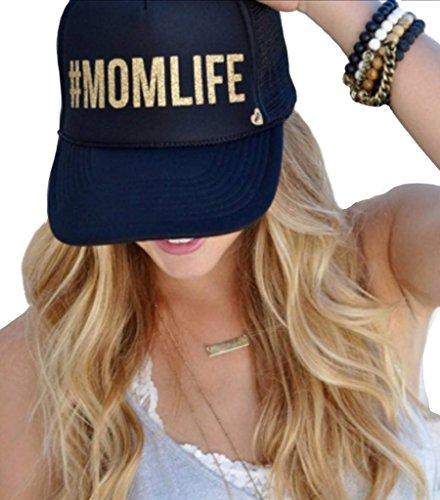 Mother Trucker Women's #MOMLIFE Black and Gold Hat